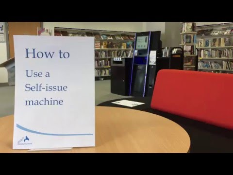How to guide: Use a library self issue machine