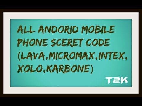 All android mobile phone sceret | Reset|Formate| by the code(Lava,Intax,Spice,Micromax)
