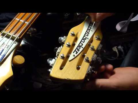 Easy way to restring your Rickenbacker 12 string guitar tip by Bill Baker Pt. 1