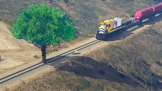 CAN YOU STOP THE TRAIN WITH A TREE IN GTA 5?
