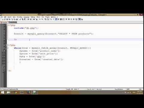 03 - Retrive Data [Select Data] from Database using PHP Mysqli ► Record In HD Video