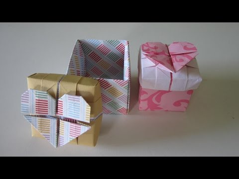 TUTORIAL - How to make a Origami Heart Box (Remake)