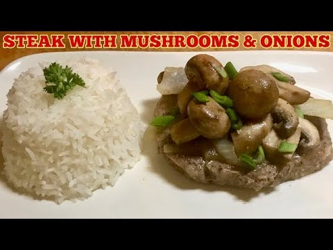 Steaks With Mushrooms and Onions - Simple Steak Recipe For Dinner
