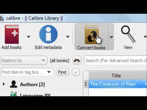 How to convert epub to pdf file using calibre