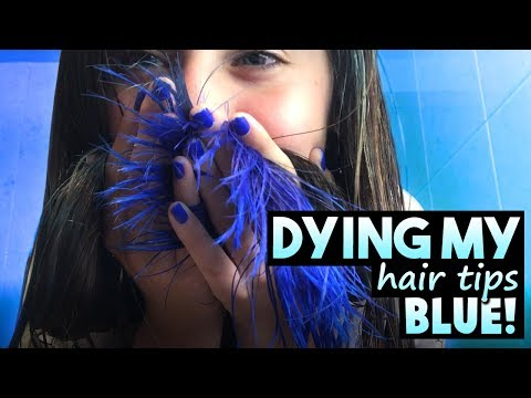 Dying my hair tips blue! | Key❤