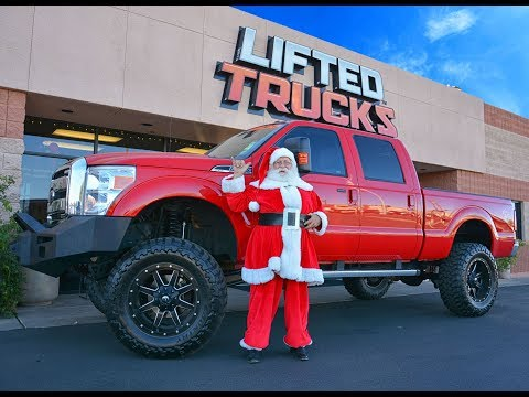 Santa drives a Ford F-250 Super Duty Truck! Happy Holidays and Merry Christmas from Lifted Trucks!