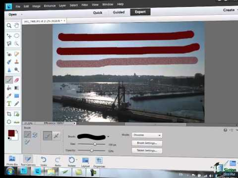 Learn how to use Photoshop Elements 11 - Part 54 - Using Painting Tools