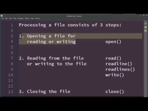 How to Process a File in Python Language | Processing a File in Python