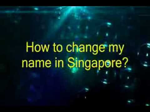 Singapore lawyer deed poll | name change lawyer | How to change your name