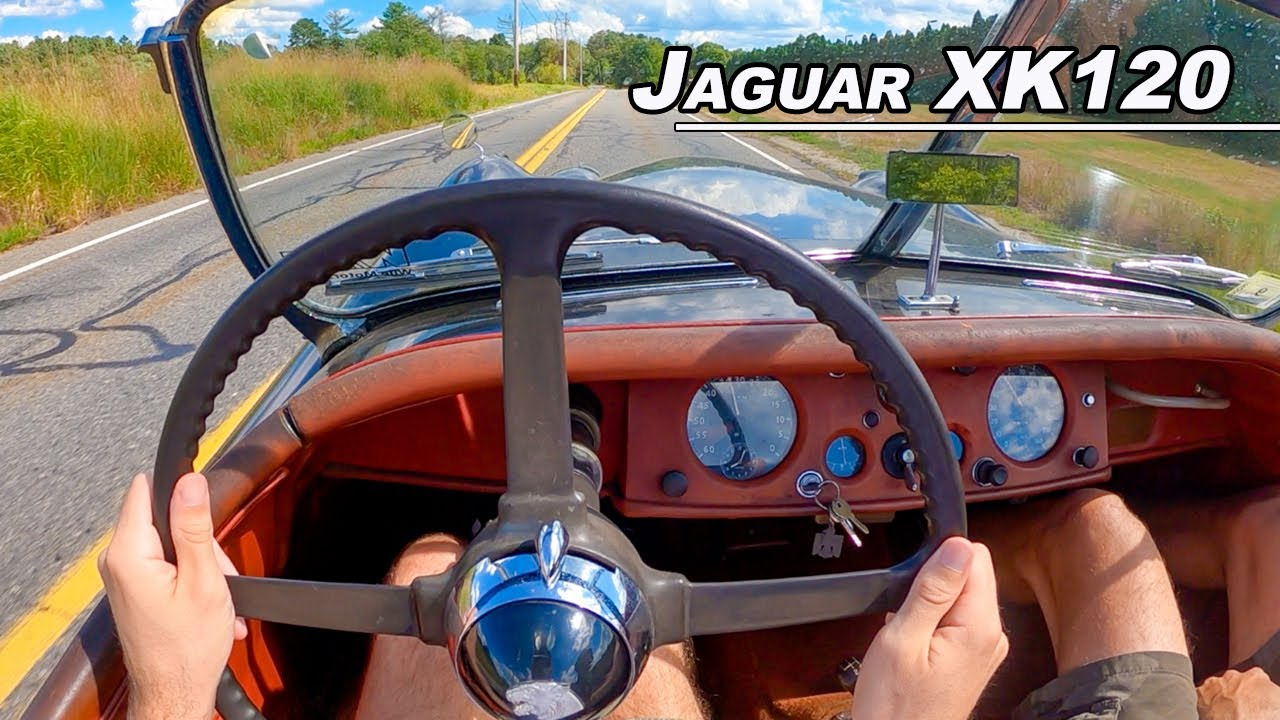 The Inline 6 Cylinder You Need to Hear to Believe -1954 Jaguar XK120 Roadster POV Drive