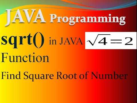 square root of number in java Example | sqrt() function in java