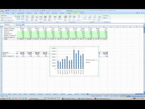 Excel How to graph chart with 2 axis