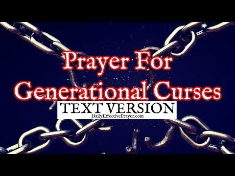 Prayer For Generational Curses (Text Version - No Sound)