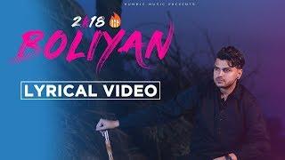 Boliyan | Lyrical Video | Akash Mangat | Latest Punjabi Song 2018 | Humble Music