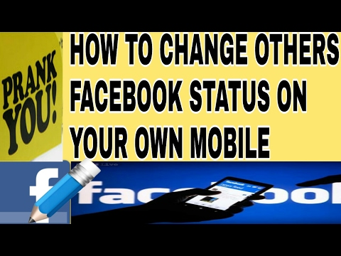 HOW TO CHANGE OTHER FACEBOOK STATUS IN YOUR OWN MOBILE || HINDI || ENGLISH || A 2 Z Tv ||
