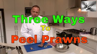 How to shell & devein Prawns 3 ways   The Hook and The Cook