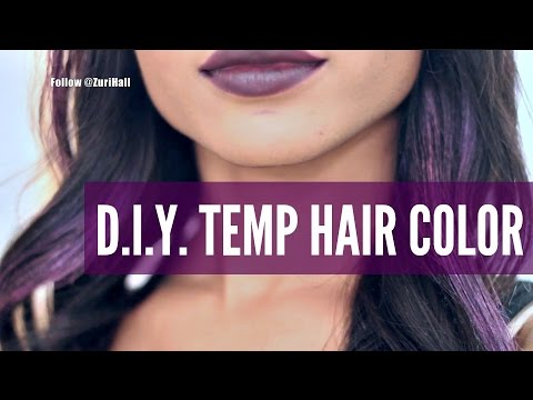 HOW I MADE MY HAIR PURPLE! (W/TEMPORARY COLOR!)