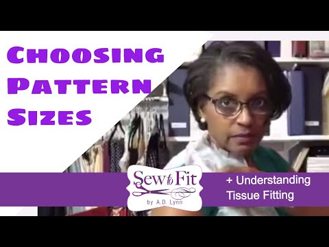 Dress Pattern size- how to choose