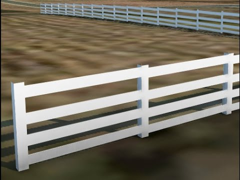 InfraWorks 360 - Create a wood horse fence
