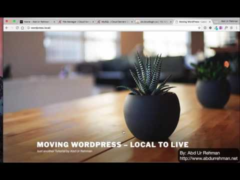 Moving WordPress from localhost to live server
