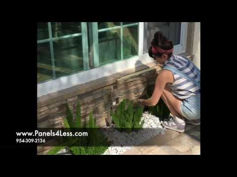 DIY Faux Stone Wall Panel Install Video