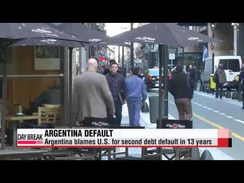 Argentina blames U.S. for second debt default in 13 years