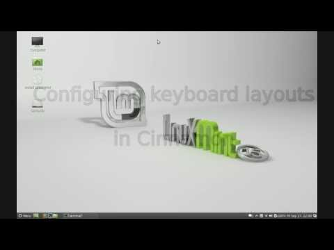 Configure keyboard layouts in Cinnamon desktop environment