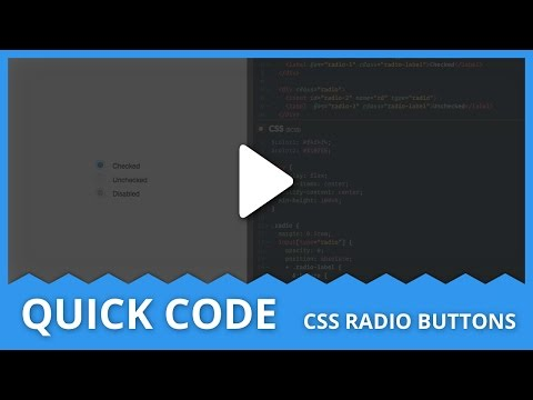 Quick Code - CSS Radio Buttons