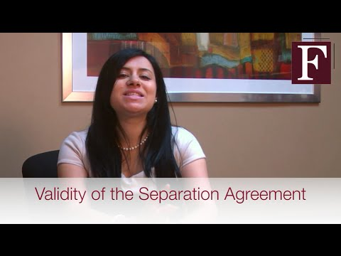 Validity of the Separation Agreement