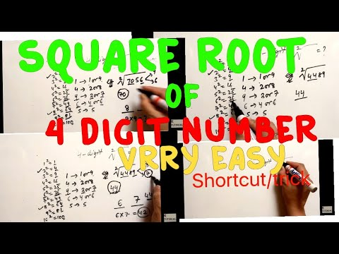 square root of 4 digit number