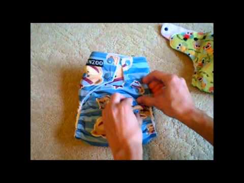 BUNNZOO Diapers One-Size Pocket Diaper - Review & Demo
