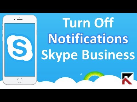 How To Turn Off Skype Business Notifications iPhone