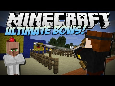 Minecraft | ULTIMATE BOWS MOD! (Rocket Launchers, Fireworks Bows & More!) | Mod Showcase [1.7!]