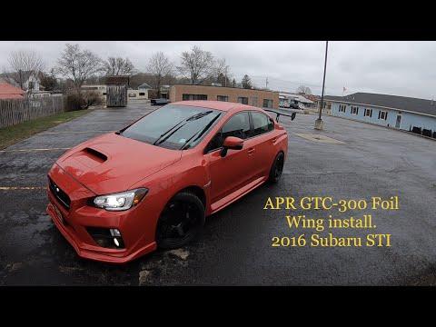 APR-GTC 300 Wing install 2016 Subaru STI