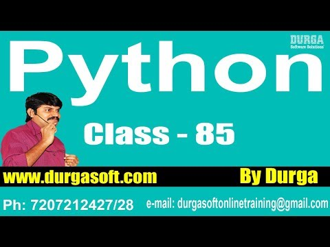 Learn Python Programming Tutorials || Python DataBase Programming Part - 1​ || On 27-05-2018