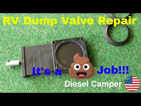 RV Dump Valve Repair:  Fix your leaky Gray Water or Black Water Valve