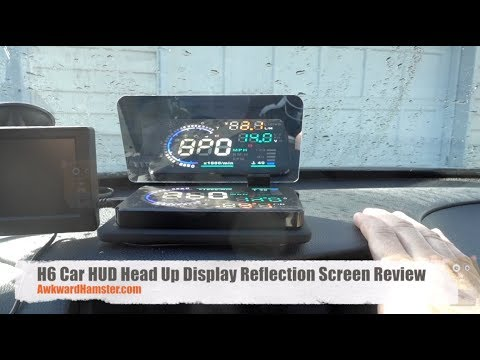 H6 Car HUD Head Up Display Reflection Screen Review