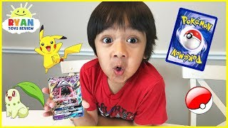 POKEMON CARDS OPENING Booster Box Moonlight Rare cards with Ryan ToysReview