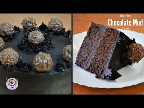 Eggless Chocolate Ferrero Rocher Mud Cake | Recipe For Beginners | Fudge Cake|Food Connection