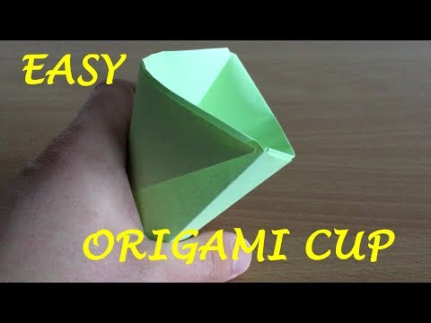 The Easiest Origami in the World - Origami Cup