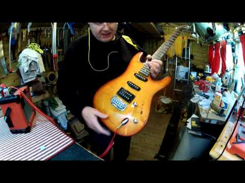 Ibanez SA series electric guitar set up