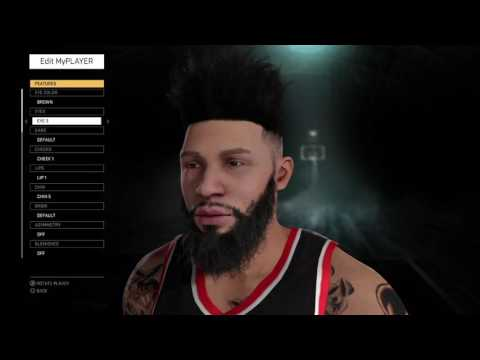 NBA 2K16 My Player Face And Tattoos Update