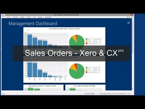 Sales Orders in Xero and CXpro