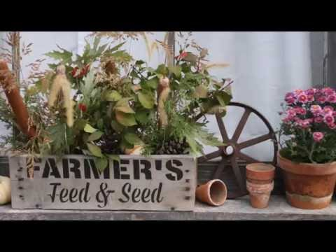 Fall Farmhouse Window Box