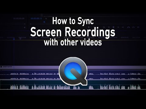 How to sync Quicktime Screen Recordings with other videos