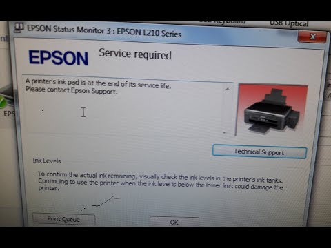 A printer's ink pad is at the end of its service life. Please contact Epson Support.