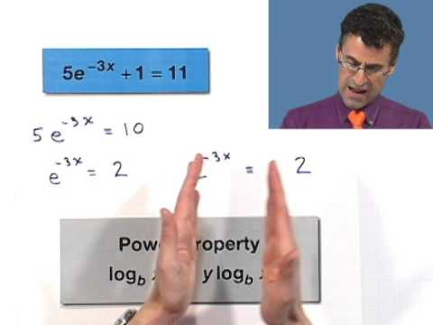 Solving Natural Exponential Equations