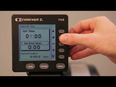 Setting up a Time Interval Workout on your Concept2 Monitor