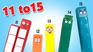 Numberblocks 11 to 15 Building Blocks Set of 55 by CBeebies    Keith's Toy Box