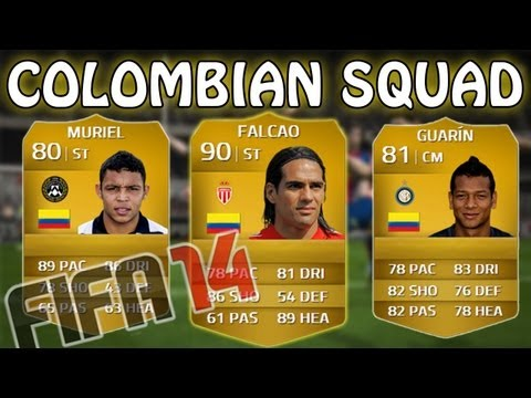 AMAZING COLOMBIA SQUAD feat. FALCAO! - FIFA 14 Squad Builder